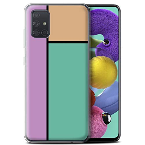 Stuff4 Phone Case/Cover/Skin/SG-GC/Pastel Tiles Collection Samsung Galaxy A71 2020 3 tegels/turquoise