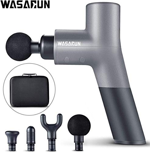 Muscle Massage Gun, WASAGUN Professional Handheld Vibration Massager Device with 5 Adjustable...