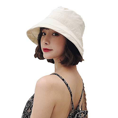 Sun hat Sombrero de Pescador Negro para Mujer Todo-fósforo Protector Solar Parasol Ultravioleta Cubierta de Sombrero para el Sol Protector para el Rostro Sombrero para el Sol