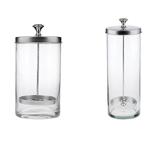 Tubayia 2 tarros de cristal desinfectante para peines y tijeras de salón