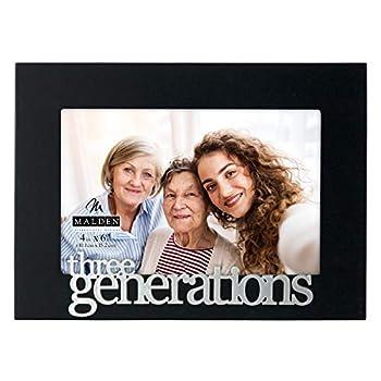 Malden International Designs Expressions Three Generations Picture Frame 4x6 Black