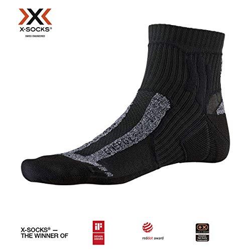 X-SOCKS Marathon Energy Chaussette Mixte Adulte, Opal Black, FR : XL (Taille Fabricant : 45-47)