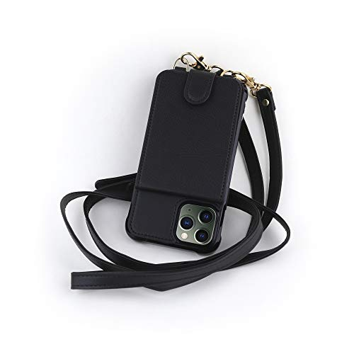 Crossbody Phone Case Wallet Compatible iPhone 12 Mini, RFID Protected Cross Body Phone Purse Bag with Adjustable Strap