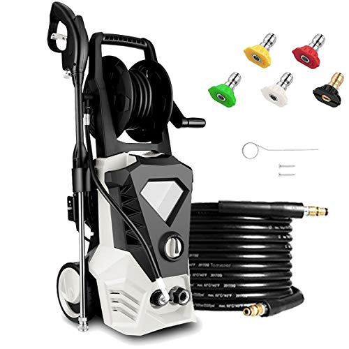 KGK White Electric Pressure Washer with 32ft Cable, Max 2.6GPM 1800W 3500PSI High Pressure Power Washer Machine with Spray Gun for Cleaning Homes,Buildings,Cars,Fences,Decks,Driveways[US Stock]