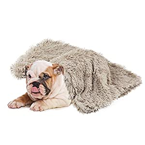 Whollyup Premium Pet Fleece Blanket Fluffy Dog Cat Blanket Throw, Soft Warm Puppy Blanket Cover Dog Cat Fluffy Fur Blanket Sleep Mat Double Layer Washable for Dog Bed, Couch, Sofa, Car