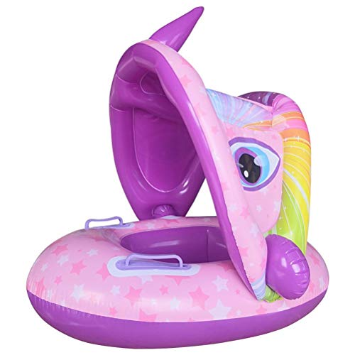 Hspemo Flotador para bebé, flotador con parasol extraíble, para niños a partir de 4 meses