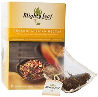Organic African Nectar Tea, 15 Tea Pouches by Mighty Leaf