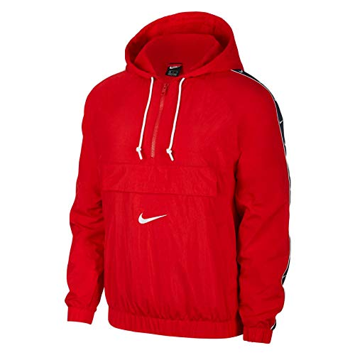 Nike Men's Sportswear Swoosh Jacket (XXL, University Red/White)
