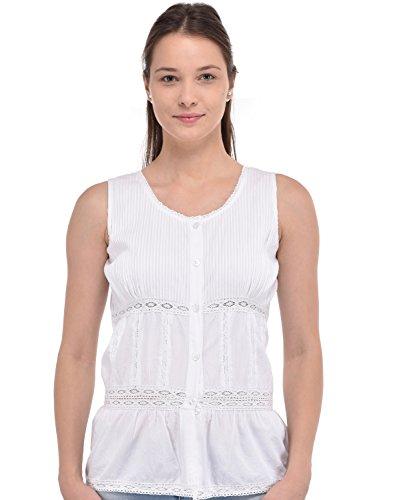 Cotton Lane White Top pour Les Femmes
