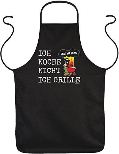 Lustige Rahmenlos Tablier humoristique Inscriptions Dead Or Alive je Cuisiniers pas je Grille – Barbecue de protection avec motif imprimé
