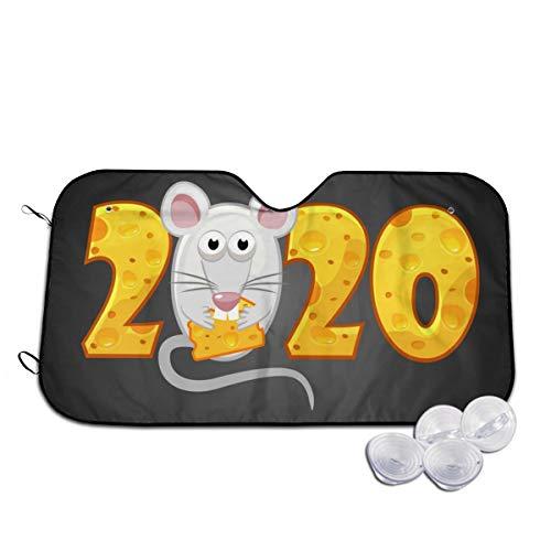 Gelukkig Nieuwjaar 2020 Getextureerde Kaas Voorruit Zonnekap Visor Voorruit Glas Voorkomen De Auto Van Verwarming In Aangepaste