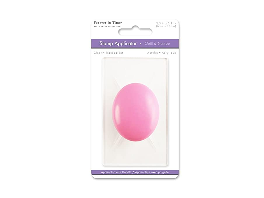 Forever in Time Craft Decor CS001 Clear Acrylic 2.4 x 3.9 Stamp Applicator