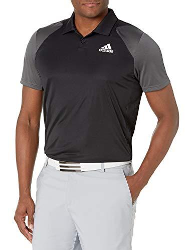 adidas,Mens,Club Polo,Black/Grey/White,XX-Large