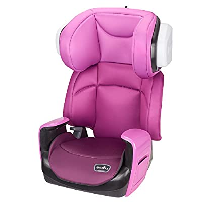 Evenflo Spectrum 2-in-1 Booster Car Seat, Poppy Pink by Evenflo