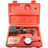 NORTOOLS Dial Indicator with Magnetic Base & Point Set Dial Test Indicator Precision Measuring Gauge Tools Kit
