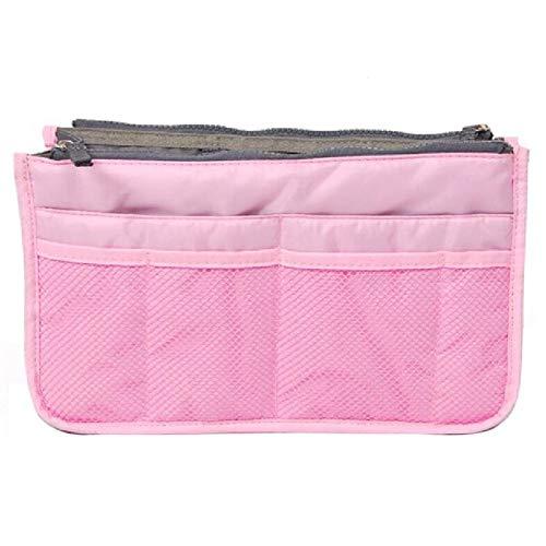 Trousse De Voyage Sac cosmétique sac de maquillage Organisateur Voyage Portable Pouch beauté fonctionnelle Sac de toilette Maquillage Maquillage Organisateurs Téléphone Sac Case (Color : Pink)