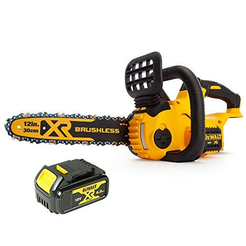 DeWalt DCM565 18V XR Cordless Brushless Chainsaw with 1 x 4.0Ah Battery
