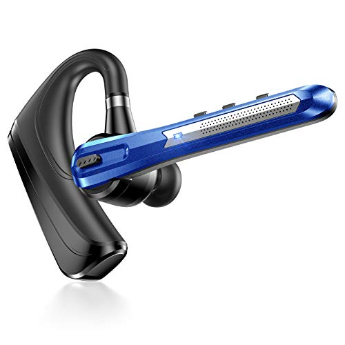 Eastlion Bluetooth Headset 5.0 Handsfree Wireless Bluetooth Earpiece with Magnetic USB,Charger Noise Cancelling,Car Single In-ear Headphones for iPhone Samsung Huawei,etc. Bluetooth name:caref11