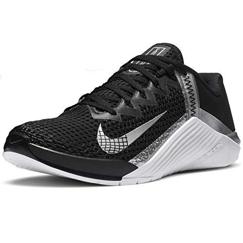 Nike Wmns Metcon 6, Zapatillas Deportivas Mujer, Black Mtlc Silver Mtlc Silver, 36.5 EU