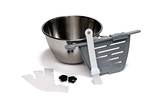 HOLEY Machine Accessory Kit for ChocoVision Revolation V (contains Bowl, Holey Baffle with Clip, 3-Pack of Scrapers, 2 Knobs, Baffle Brush)