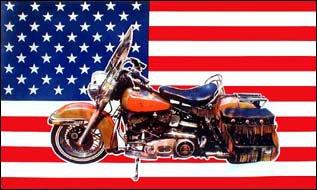 Fahne / Flagge USA Motorrad NEU 90 x 150 cm Flaggen