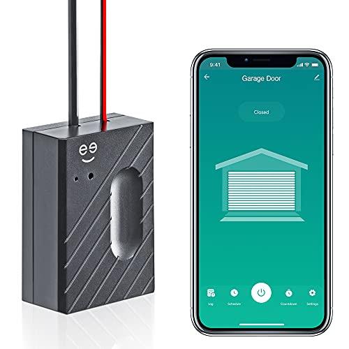 Geeni Smart Garage Door Opener, WiFi App Controlled Garage Opener, Compatible with Alexa and Google Home, No Remote Required
