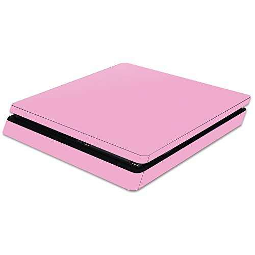MightySkins Skin Compatible with Sony PS4 Slim Console - Solid Pink | Protective, Durable, and Unique Vinyl Decal wrap Cover | Easy to Apply, Remove, and Change Styles | Made in The USA
