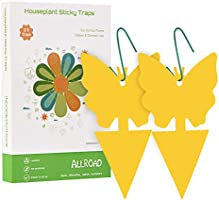 ALLRoad 21 Pcs Yellow Sticky Fruit Fly Traps Gnat Trap for Indoor/Outdoor Houseplant Sticky Bug with Holes Insect Catcher...