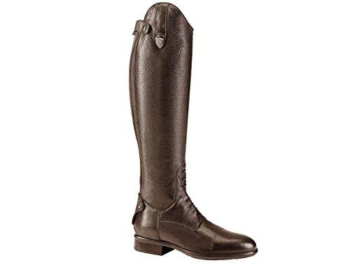TATTINI Bretonische Reitstiefel, geschnürt, genarbtes Leder, lang, Größe L, Braun - braun - Größe: 40 EU
