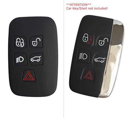 CK + Land Rover Auto de llave móvil Key Cover Case Funda Silicona para Evoque velar Discovery Sport Range Rover