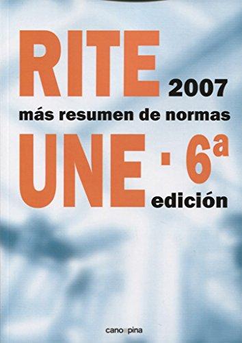 RITE+resumen de normas UNE: 6ª edición