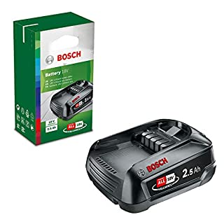 scheda bosch home and garden 2.5 ah accessorio power 4all batteria al litio da 18 v, verde