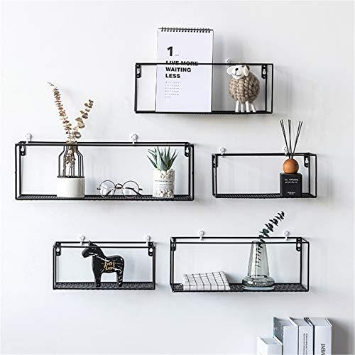 KING DO WAY Mensole da Muro, Scaffale di Mensola da Parete, Portaoggetti in Metallo Creativo per Casa 29 x 12,5 cm