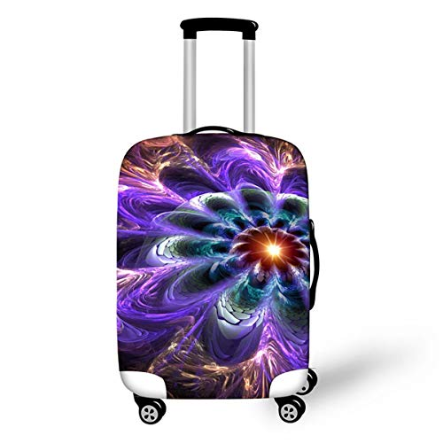 Trolley Case Protective Cover, DOTBUY 3D Print Premium Travel Suitcase Protector Elastic Anti-Scratch Dustproof Luggage Sleeve Cover Elasticized Washable (Flower 4,XL (30-32 inches))