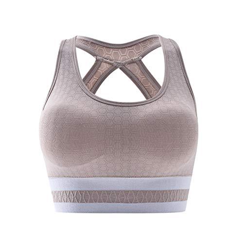 Youpin Sujetador deportivo para mujer, sin cables, ropa interior 2020 (color caqui claro, tamaño: talla única)