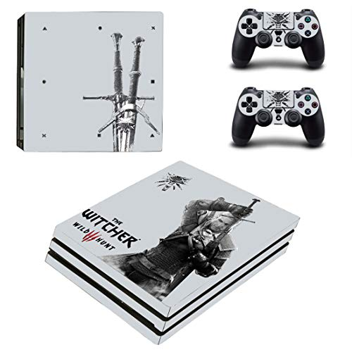 The Witcher 3 Ps4 Pro Sticker, Full Body Vinyl Skin Decal Cover for Playstation 4 Console Controller Remake