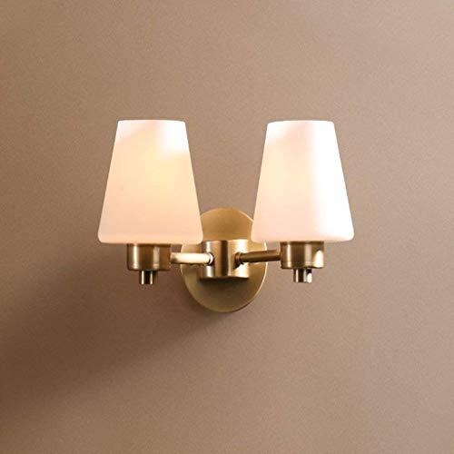 YXZQ Lampe, Wandleuchte Kupfer einfache Wohnzimmer Wandleuchte doppelbett kopfteil Schlafzimmer Wandleuchte einfache ländliche treppe ganglichter quantitative (Stil: A)