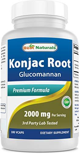 Best Naturals Konjac Root 2000MG, 180count