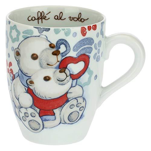 THUN - Tazza Colazione con Orsi Polari - Mug per tè, caffè, Latte - Idea Regalo Natale - Accessori Cucina - Linea Dolce Inverno - Porcellana - 300 ml
