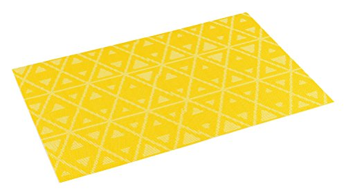 décorline set de table 30x45cm pvc trigone jaune