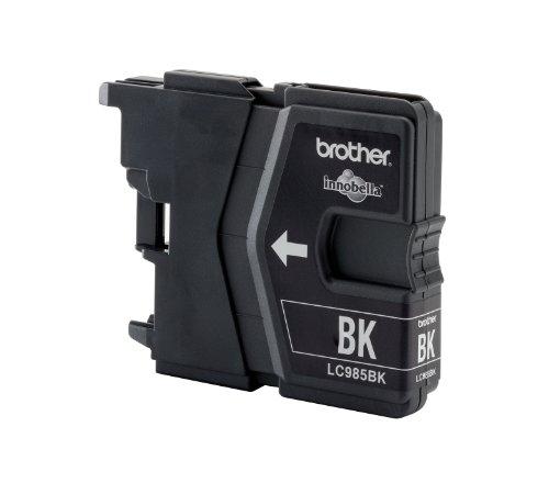 Brother LC985BK - Cartucho de Tinta para impresoras (Negro, 300 páginas, MFC-J220, MFC-J265W, MFC-J410, MFC-J415W, DCP-J125, DCP-J140W, DCP-J315W, DCP-J515W)