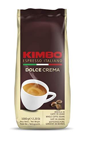 Kimbo Dolce Crema ganze Kaffeebohnen, helle Röstung, 1kg Beutel