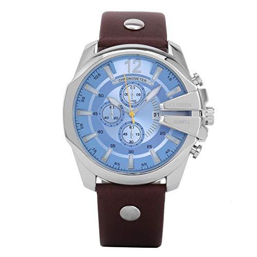 Relojes De Pulsera Reloj De Cuarzo con Correa De Acero para Hombre, Reloj De Tendencia De Moda, D