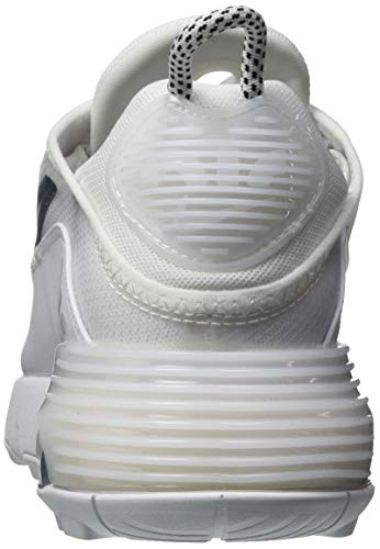 Nike Womens Air Max 2090 Womens Casual Running Shoes Ck2612-100 Size 8.5 White/Black/Grey Indiana