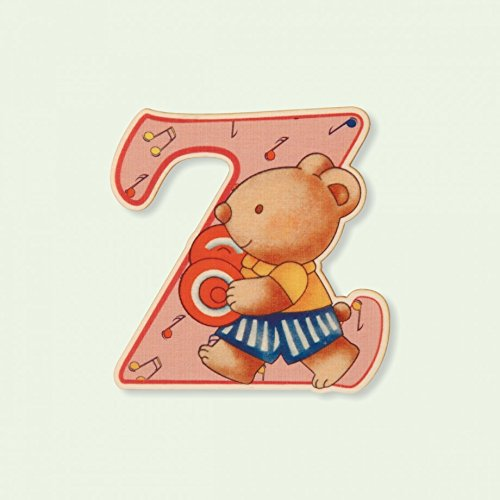 Dida - Lettre Z Bois Enfant - Lettres Alphabet Bois pour Composer Le nom de Votre bébé et décorer la Chambre