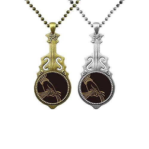 Kulturreligion Handschal-Muster Musik Gitarre Anhänger Schmuck Halskette Anhänger Paar