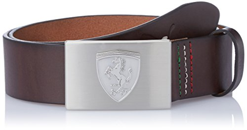 Puma Chocolate Brown Leather Men's Belt