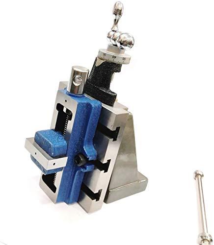 Torno Fresado Vertical Slide & 50 mm Auto Centering Vise Vise Herramientas de Ingeniería