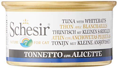 Schesir Gato 85 gr atún con anchoetas en gelatina