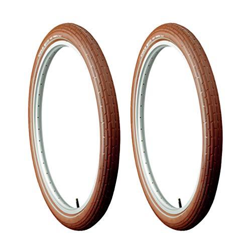 Schwalbe Fat Frank Kevlar Guard Wire Bead Clincher Bike Tire 29 x 2 Bundle (Brown Reflex)